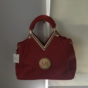 NWT Michael Kors red purse